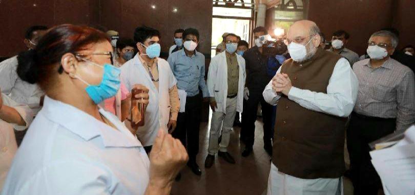 Amit Shah instructed to install CCTV in Delhi Karona hospital