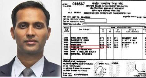 IAS अधिकारी ने अपनी CBSE मार्कशीट शेयर कर दी एक बड़ी सीख